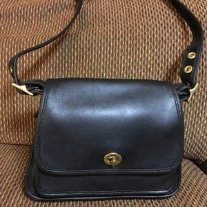 COACH Vintage Black Leather RAMBLER LEGACY XBody